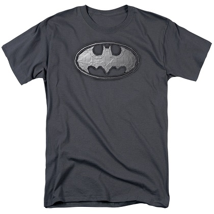Batman Duct Tape Logo Grey Tshirt