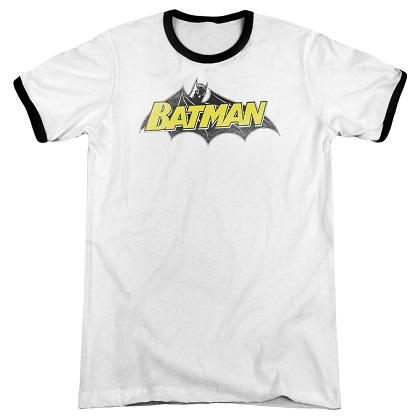 Batman Classic Comic Logo Ringer Tshirt
