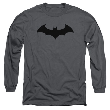 Batman Hush Logo Grey Long Sleeve Tshirt