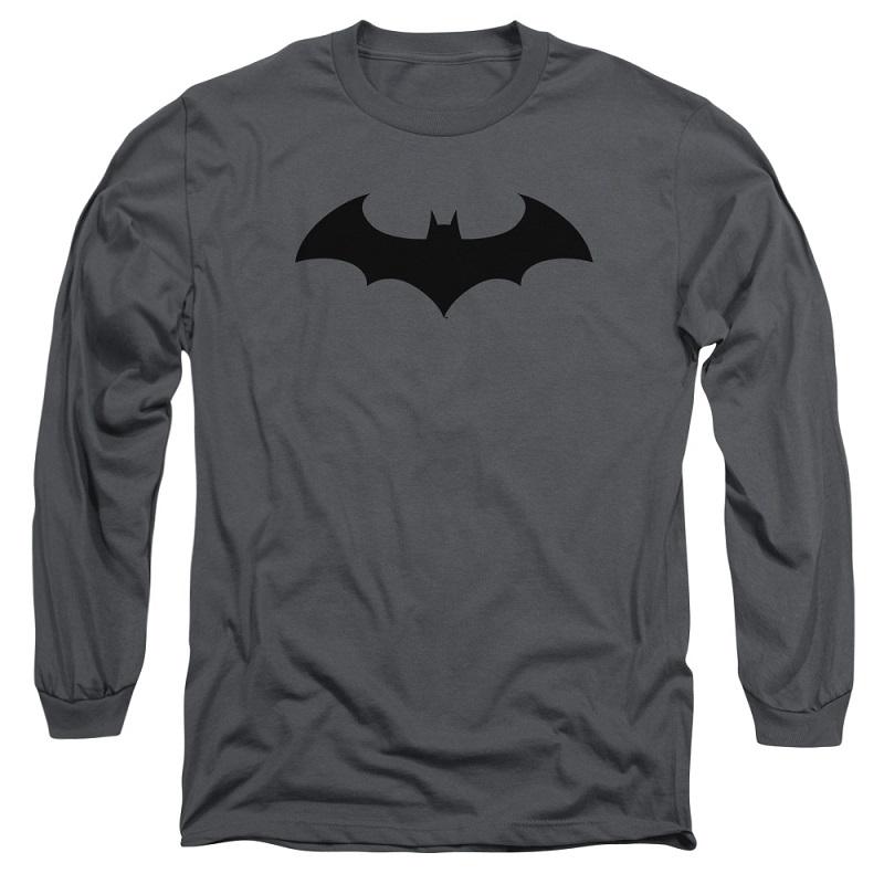 Batman Hush Logo Grey Long Sleeve Tshirt