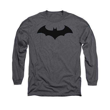 Batman Hush Logo Gray Long Sleeve T-Shirt