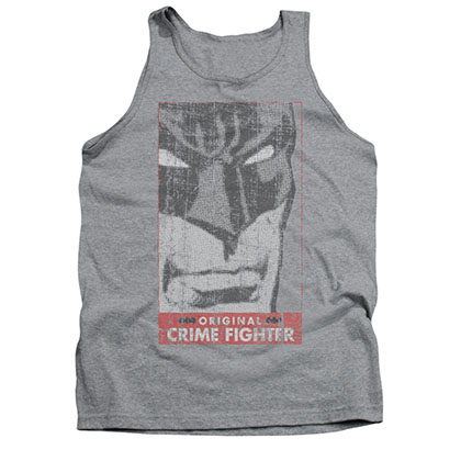 Batman Men's Gray Crime Fighter Tank Top