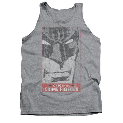 Batman Men's Gray Crime Fighter Tank Top