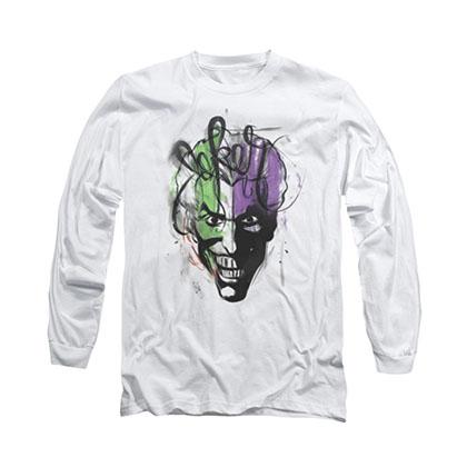 Batman Joker Airbrush White Long Sleeve T-Shirt