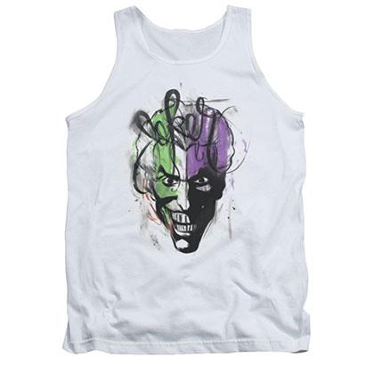 Batman Joker Airbrush White Tank Top