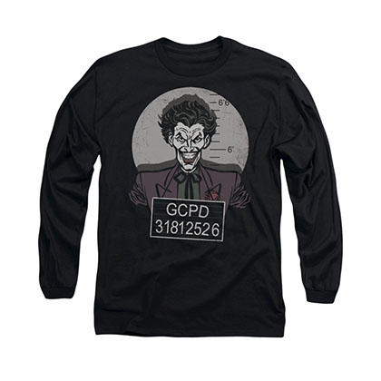 Batman Joker Busted Black Long Sleeve T-Shirt