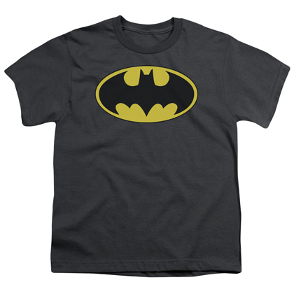 Batman Classic Logo Grey Youth Tshirt