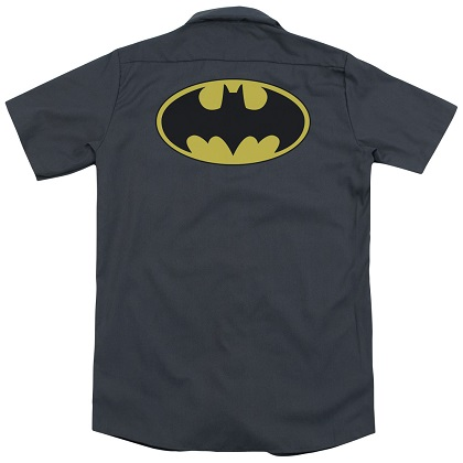 Batman Classic Logo Grey Work Shirt