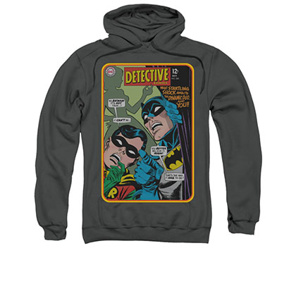Batman Men's Gray Detective Comic Pullover Hoodie