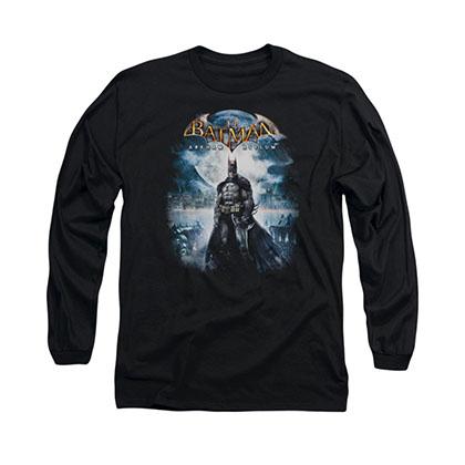 Batman Arkham Asylum Game Cover Black Long Sleeve T-Shirt