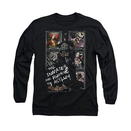 Batman Arkham Asylum Inmates Black Long Sleeve T-Shirt