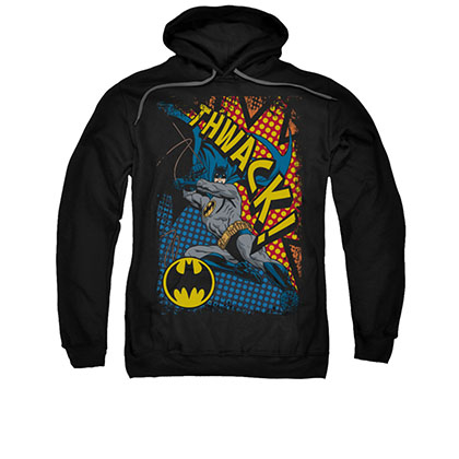 Batman Thwack Men's Black Pullover Hoodie