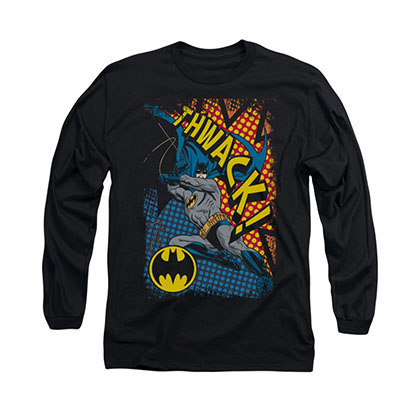 Batman Thwack Black Long Sleeve T-Shirt