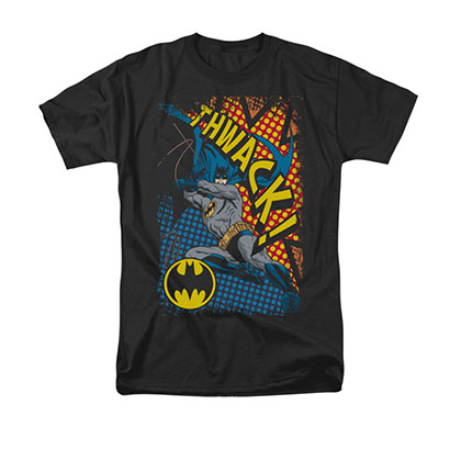 Batman Thwack Men's Black Tee Shirt