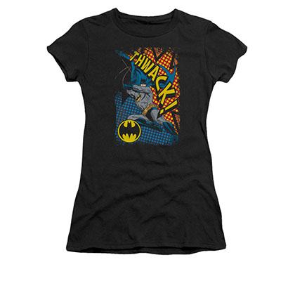 Batman Juniors Black Thwack Tee Shirt