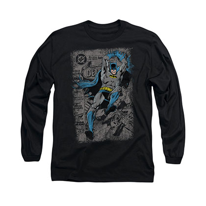 Batman Detective 487 Cover Black Long Sleeve T-Shirt