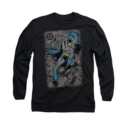 Batman Detective 487 Cover Black Long Sleeve T-Shirt
