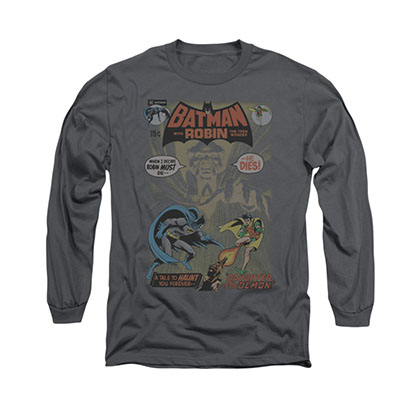 Batman 232 Cover Gray Long Sleeve T-Shirt