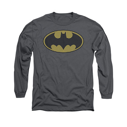 Batman Little Logos Gray Long Sleeve T-Shirt