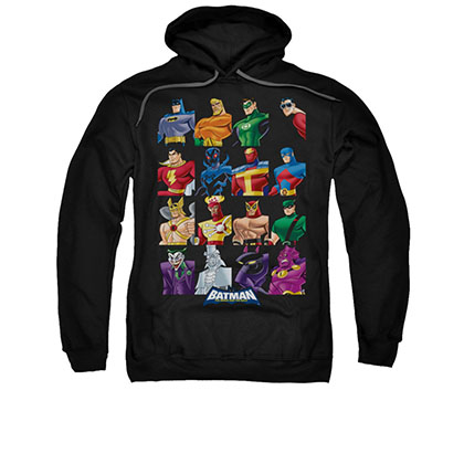 Batman Cast Of Characters Black Pullover Hoodie