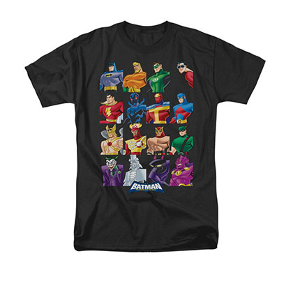 Batman Cast Of Characters Black Tee Shirt