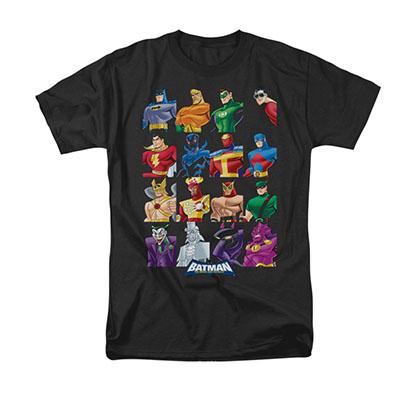 Batman Cast Of Characters Black Tee Shirt