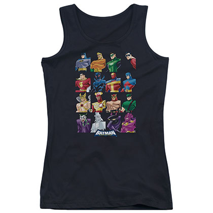 Batman Characters Black Juniors Tank Top