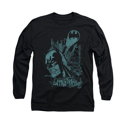 Batman Gritted Teeth Black Long Sleeve T-Shirt