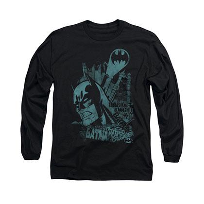 Batman Gritted Teeth Black Long Sleeve T-Shirt