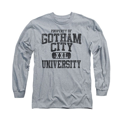 Batman Gotham City Property Gray Long Sleeve T-Shirt