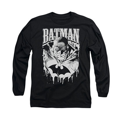 Batman Metal Black Long Sleeve T-Shirt