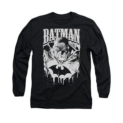 Batman Metal Black Long Sleeve T-Shirt