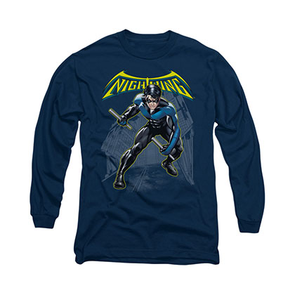 Batman Nightwing Blue Long Sleeve T-Shirt