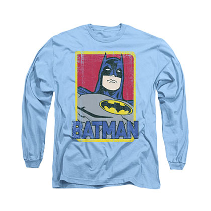 Batman Primary Blue Long Sleeve T-Shirt