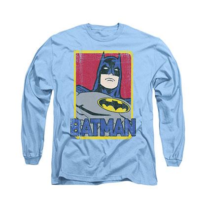 Batman Primary Blue Long Sleeve T-Shirt