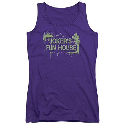 Batman Joker's Fun House Purple Juniors Tank Top