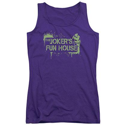 Batman Joker's Fun House Purple Juniors Tank Top