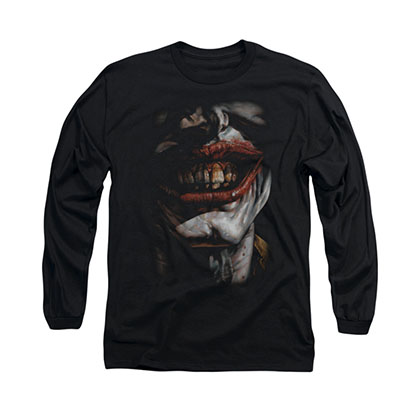 Batman Joker Smile Of Evil Black Long Sleeve T-Shirt