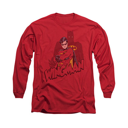 Batman Wingman Red Long Sleeve T-Shirt