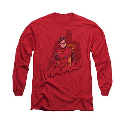Batman Wingman Red Long Sleeve T-Shirt