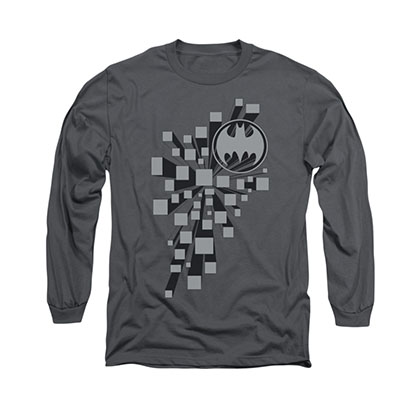 Batman Gotham 3D Gray Long Sleeve T-Shirt