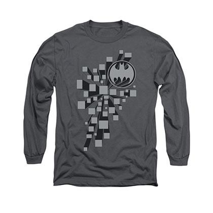 Batman Gotham 3D Gray Long Sleeve T-Shirt