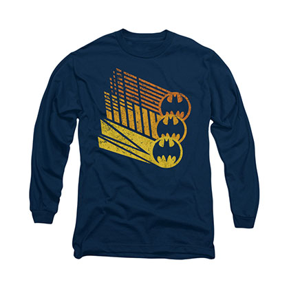 Batman Bat Signals Blue Long Sleeve T-Shirt