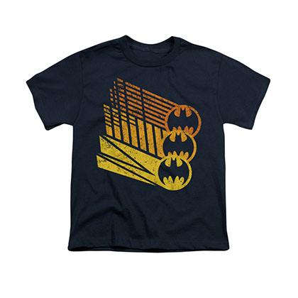 Batman Bat Signals Blue Youth Unisex T-Shirt