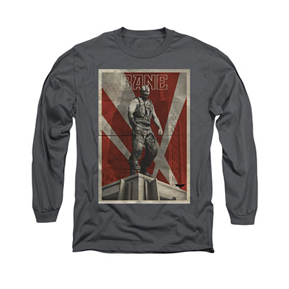 Batman Bane Rooftop Gray Long Sleeve T-Shirt