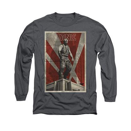Batman Bane Rooftop Gray Long Sleeve T-Shirt
