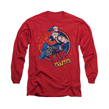 Batman Bane Attack Red Long Sleeve T-Shirt