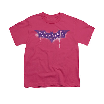 Batman Catwoman Meow Pink Youth Unisex T-Shirt