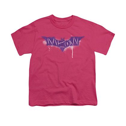 Batman Catwoman Meow Pink Youth Unisex T-Shirt