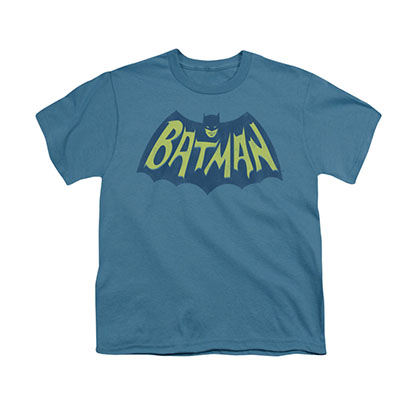 Batman TV Show Bat Logo Blue Youth Unisex T-Shirt